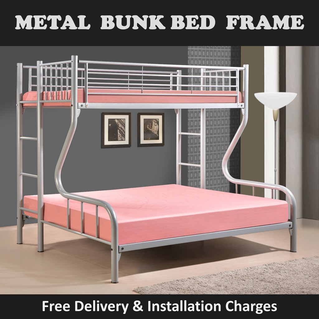 Talitha Top Single Bottom Queen Double Deck Bed Frame With Mattress Plywood Shopee Singapore