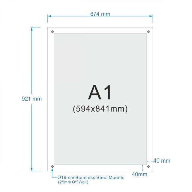 acrylic poster frame set a1 size