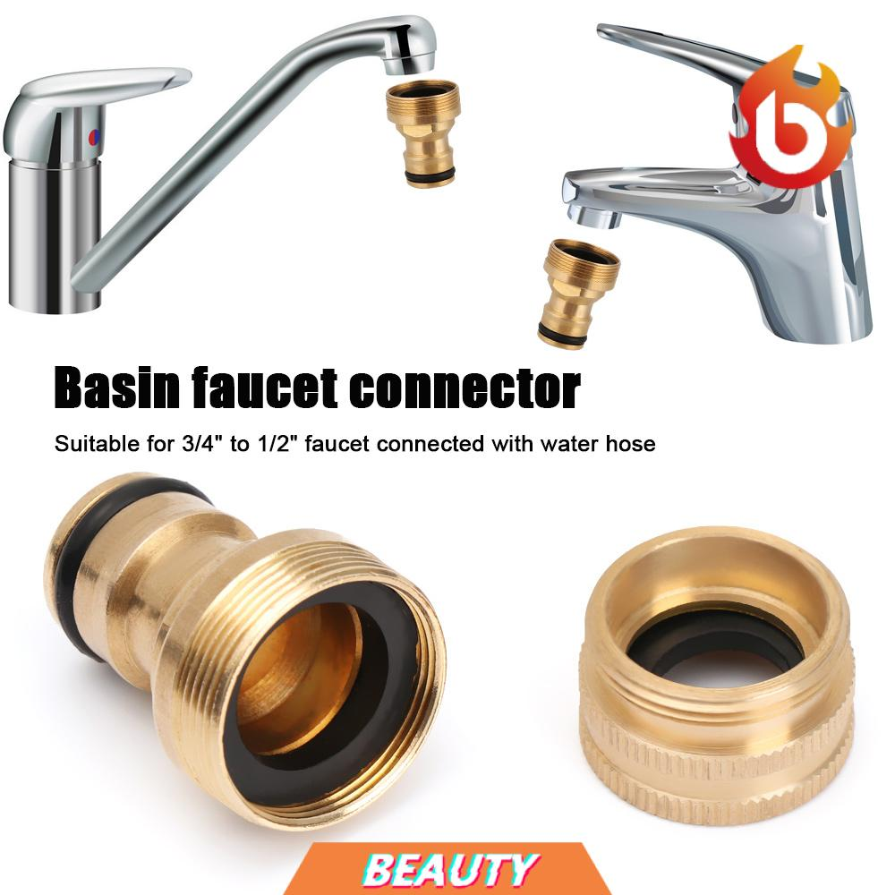 beauty kitchen sink water pipe connector car washing pipe joiner fitting tap hose adapter universal bathroom home garden brass male female thread