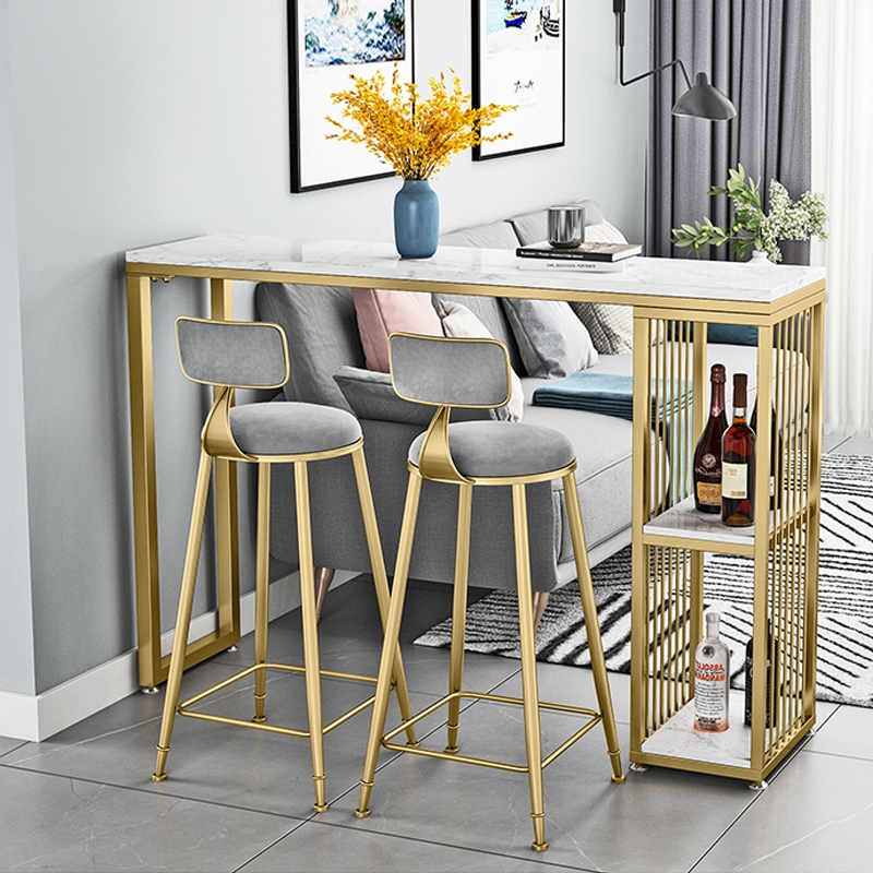 marble bar table set living room partition bar storage table chair dining table combination kitchen wine cabinet table set