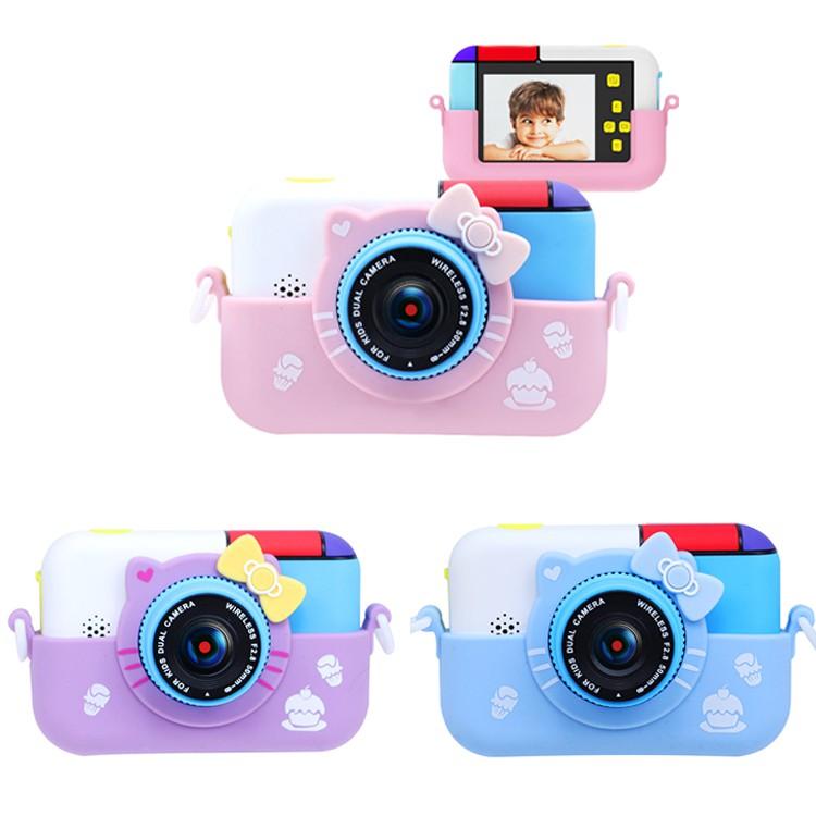 新款兒童迷你相機 KT凱蒂貓相機 鼠年相機 兒童數位相機 可自拍 人臉 辨識 兒童節禮物 可愛迷你相機 簡單操作 ...