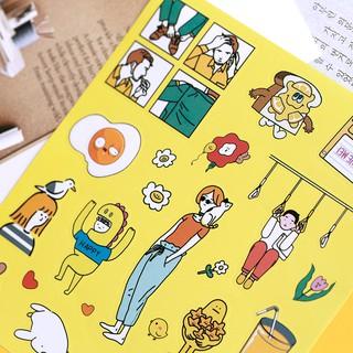 四幕戲系列 搞怪卡通貼紙 手帳素材 裝飾 貼紙   蝦皮購物