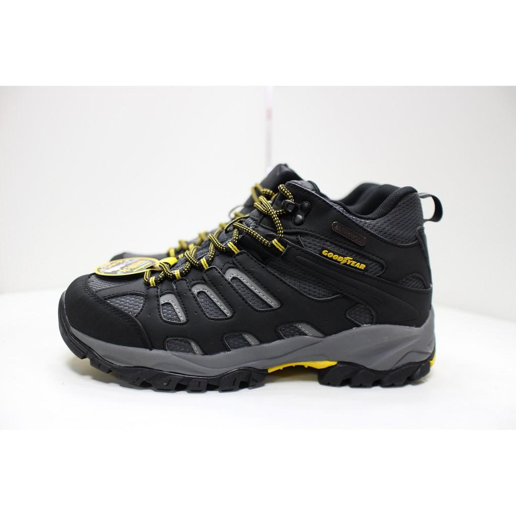 現貨即出 GOOD YEAR 固特異 男鞋 高筒 防水 登山運動鞋 登山鞋 戶外鞋 郊山鞋 黑灰 GAMO83450 | 蝦皮購物