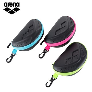 新款arena阿瑞娜大號泳鏡盒 游泳眼鏡收納透氣帶拉鎖便攜泳鏡盒   蝦皮購物