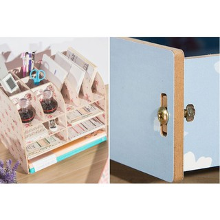 DIY木製加厚創意文件收納盒 辦公用品大號抽屜式木質文件架創意文件盒木製置物架qs | 蝦皮購物