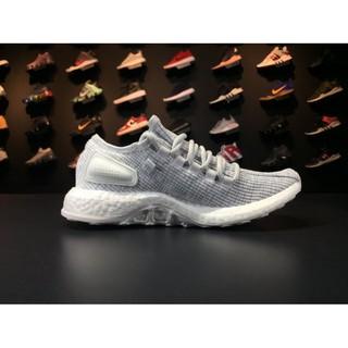 全新正品ADIDAS PURE BOOST PRIMEKNIT編織 350 慢跑鞋 白灰色 男女飛線BA8893 | 蝦皮購物