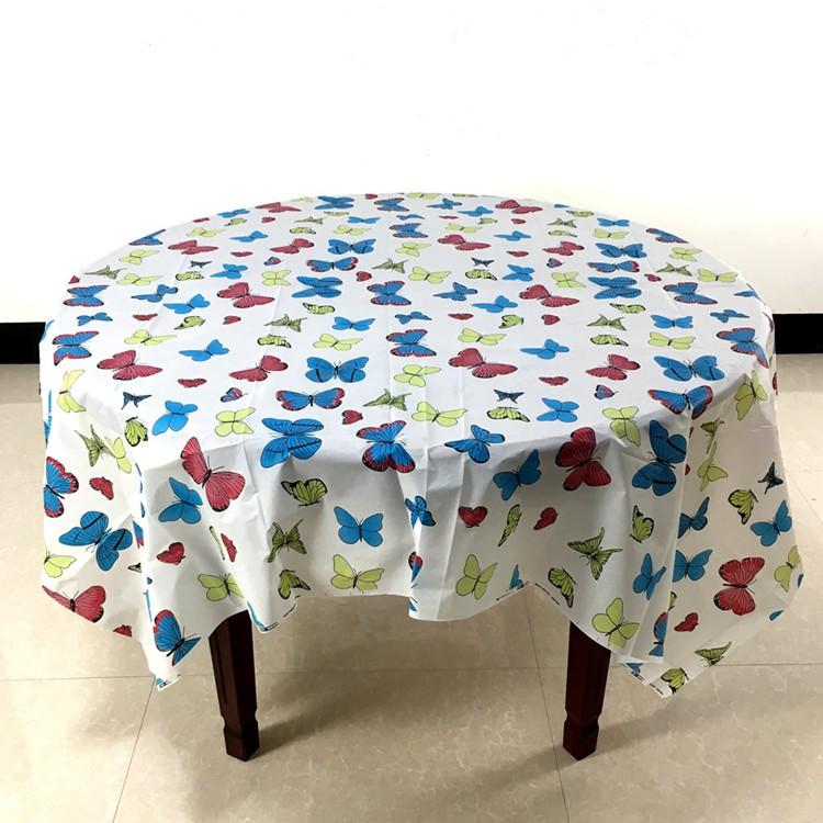 【麻子小鋪】一次性加厚派對桌布 防水防油加厚桌布 生日派對 露營桌布 會場佈置 蝴蝶印花   蝦皮購物