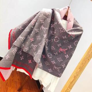 熱賣 LV圍巾 時尚 新款 韓版圍巾 高質量 羊絨圍巾 路易威登圍巾 個性大長巾 女士 圍巾 現貨   蝦皮購物