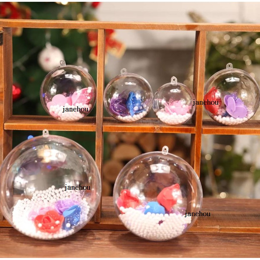 13.6cm 透明圓球 透明球 壓克力透明塑膠球殼 婚禮小物 水晶球 聖誕裝飾球 吊球 塑膠球 透明球吊飾 展示球 扭蛋 ...