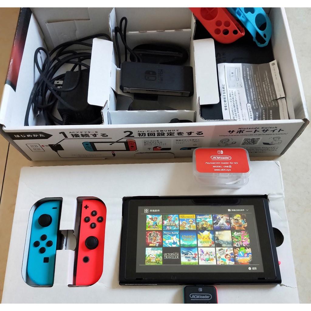 [現貨]Nintendo 任天堂]Switch 大氣層 SXpro 破解機 ns破解 香港/日本版 電光藍/電光紅破解版   蝦皮購物
