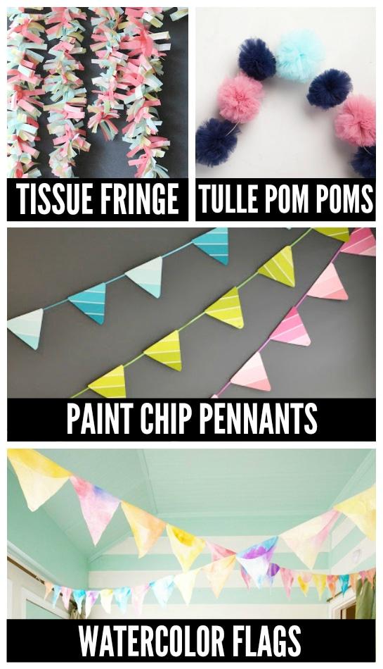 Birthday Party DIY Garlands