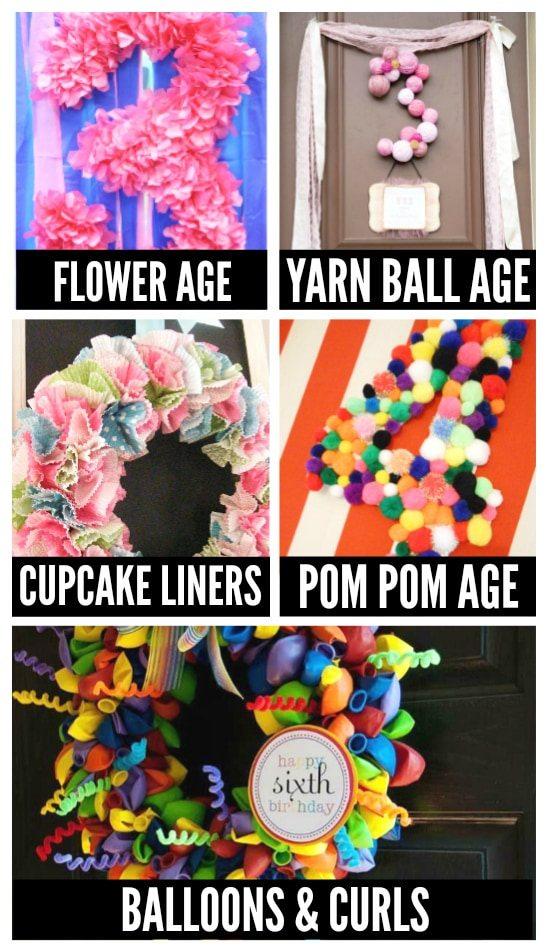 Birthday Party Wreaths