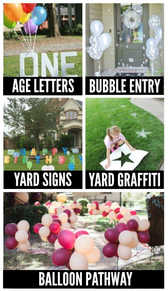 Birthday Party Yard Decorations