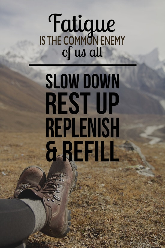 Slow down and rest up when dealing with depression.