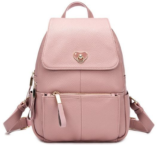 Buy Doodoo WY53 Fashion Backpacks for Women   Leather  Pink     This item is currently out of stock