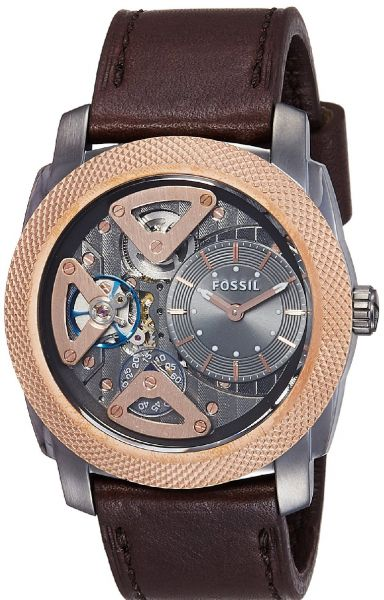 Fossil Mechanical Twist For Men Casual Leather Band