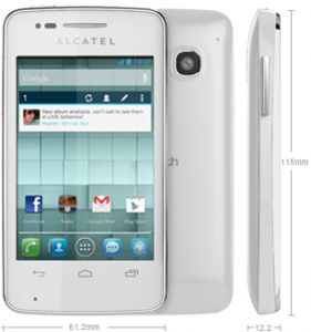 Alcatel Oouch S'POP OT4030  White price, review and buy in Kuwait, Alexandria City, Cairo