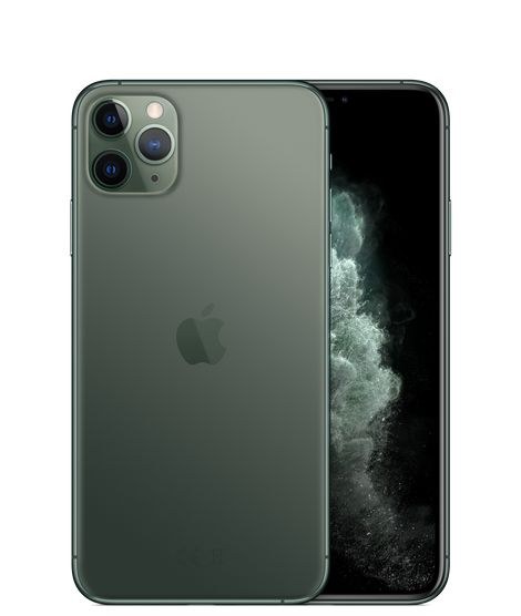 Apple iPhone 11 Pro Max with FaceTime - 256GB, 4GB RAM, 4G LTE, Midnight Green, Single SIM & E-SIM