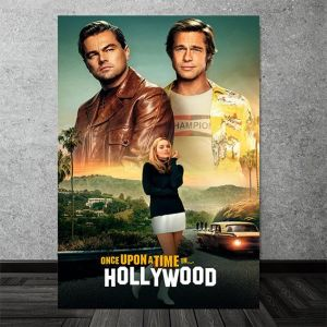 uhd print once upon a time in hollywood movie poster pvc matt 3d brilliant colors print without frame poster ideal and easy hanging in living room