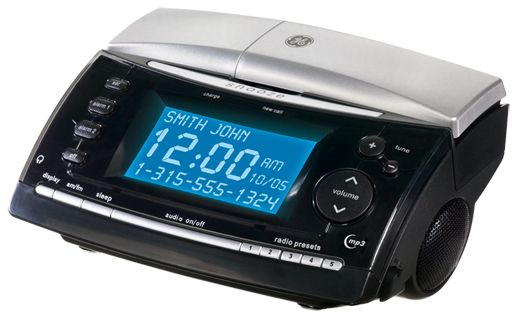 GE 27980GE3 24 GHz Cordless Phone With Bedroom Clock