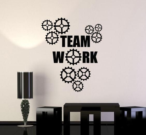 Teamwork Quotes for Office Wall Decals Home Decor