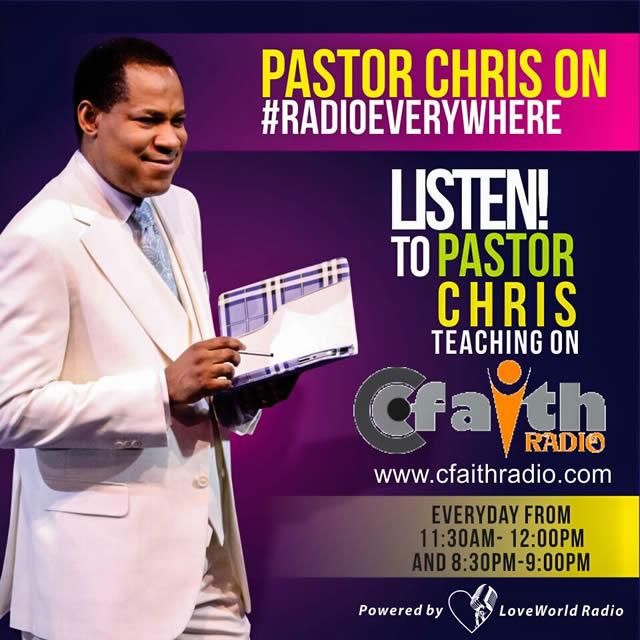Pastor Chris On Cfaith Radio
