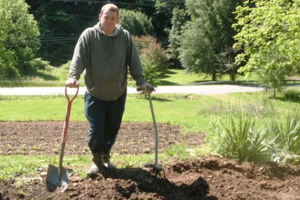 Todd and shovel