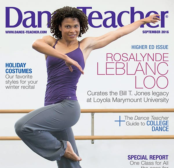 LeBlanc Loo on the cover of Dance Teacher magazine