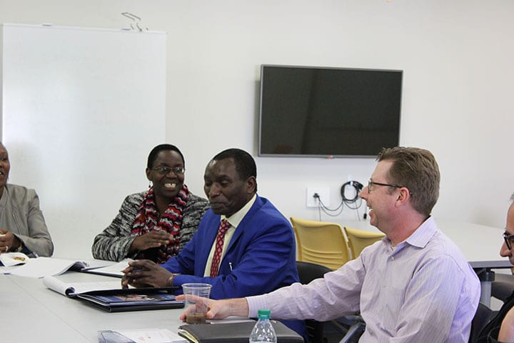 CFA faculty speaking with USIU-A delegation