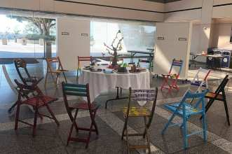 SAW 2019 1 table and chairs blog - A Theme of Unity Inspires the 2019 Summer Arts Workshop