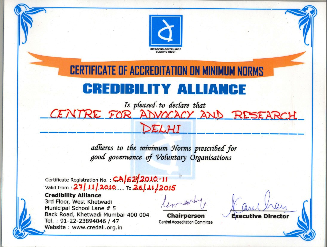 Certificate of Credibility Alliance