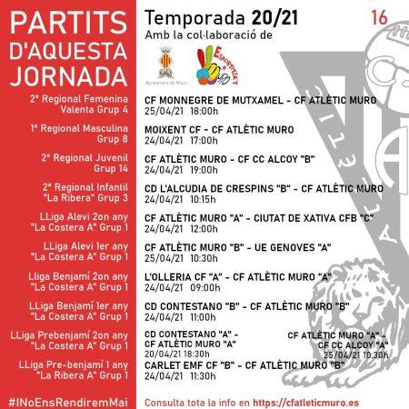 Read more about the article Partits davant el CF Monnegre de Mutxamel i el Moixent CF