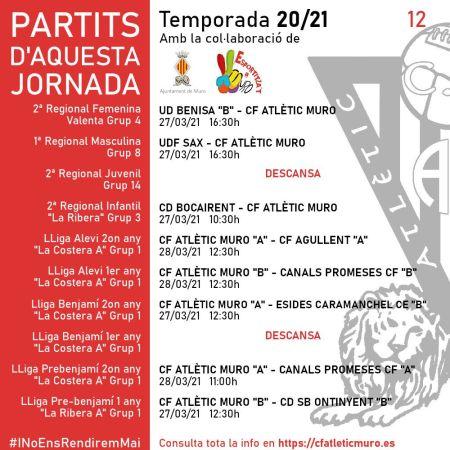 """Read more about the article TORNEM… Partits davant l'UD Benisa """"B"""" i l'UDF Sax"""