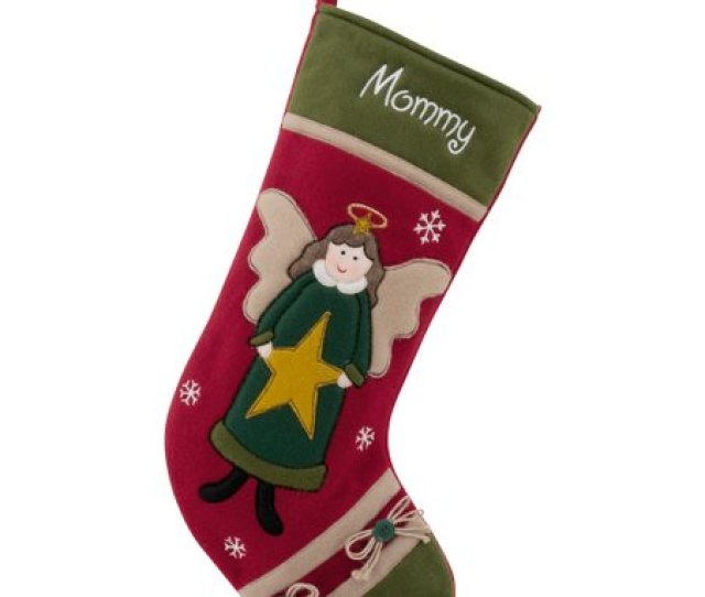 Angel Country Character Personalized Stocking