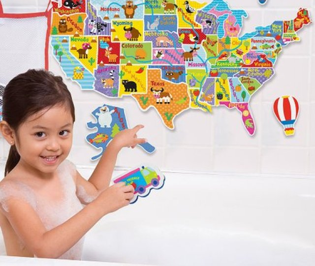 Usa Map In The Tub Set
