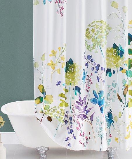 bluebellgray botanical garden shower curtain