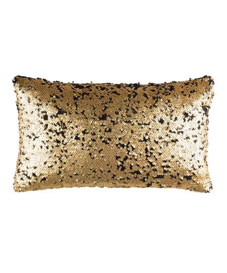 safavieh gold talon sequin lumbar pillow