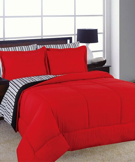 u s polo assn red black reversible barton comforter set