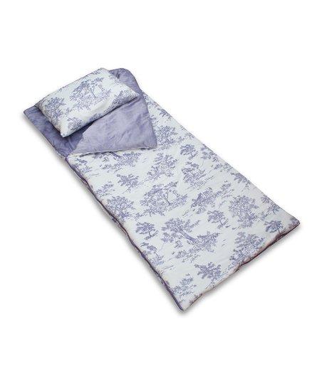 thro lavender toile sleeping bag pillow