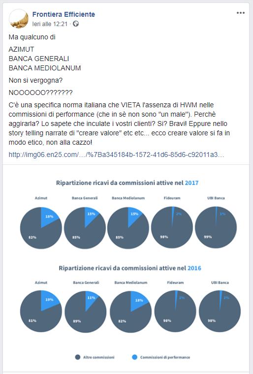 frontiera efficiente richiama Azimut, Banca Generali e Banca Mediolanum 05.12.2018