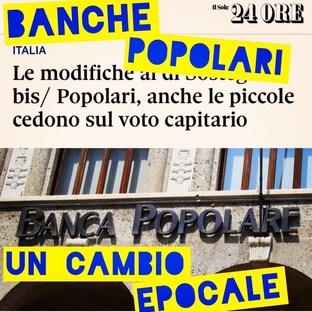 Banche Popolari, un cambio epocale.