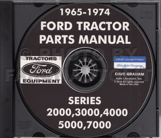 19651974 ford tractor parts manual cdrom 2000 3000 4000 5000 7000