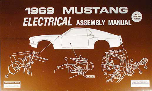 1969 ford mustang electrical wiring assembly manual reprint