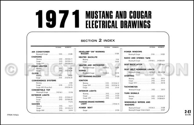 1971 ford mustang wiring diagram  wiring diagrams database
