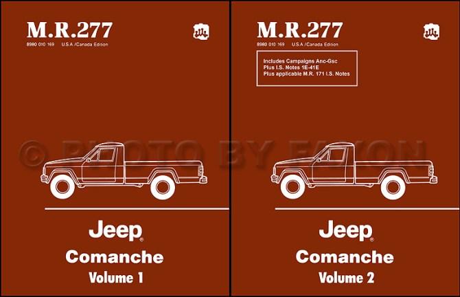 19861988 jeep comanche repair shop manual set reprintmr 277