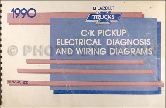 1990 chevy c/k pickup wiring diagram manual original