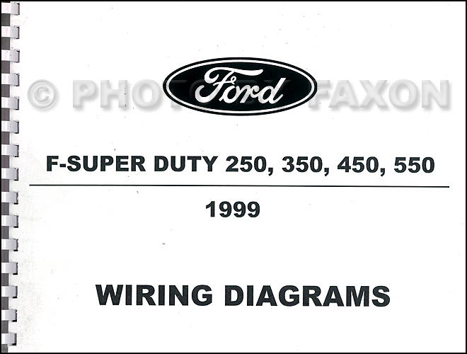 1999 ford fsuper duty 250 350 450 550 wiring diagram manual factory reprint