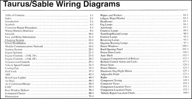 ford wiring schematic 2004 mercury sable  save wiring