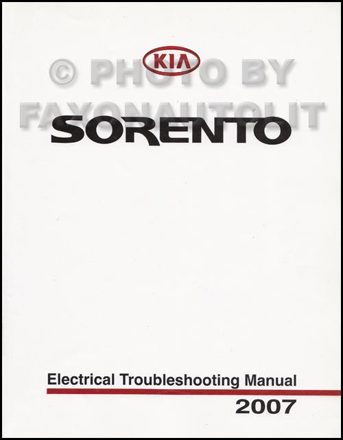 2007 kia sorento electrical troubleshooting manual original