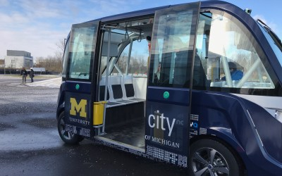 Driverless shuttle joins TechLab at Mcity